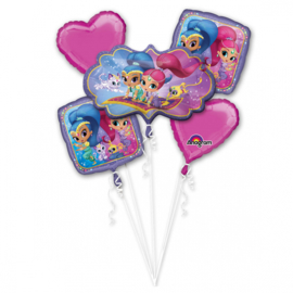 Shimmer and Shine folieballonnen boeket 5-delig