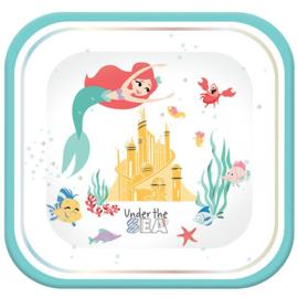 Disney Ariel Under The Sea bordjes 24 cm. 4 st.