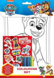 Paw Patrol kleur- en stickerset