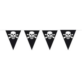 Piraten vlaggenlijn zwart 10 mtr.