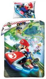 Super Mariokart dekbedovertrek 140 x 200 cm.