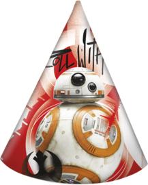 Star Wars Episode 8 The Last Jedi feesthoedjes 6 st.