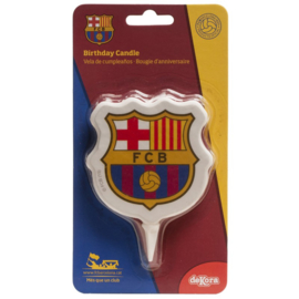 FC Barcelona verjaardag taart kaars 2D 7,5 cm.