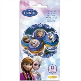 Disney Frozen eetbare cupcake decoratie ø 4,5 cm. 12 st.