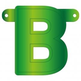 Banner letter B lime groen