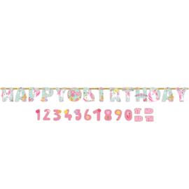 Magical Unicorn aanpasbare happy birthday leeftijd letterslinger XL