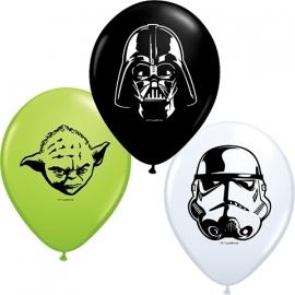 Disney Star Wars face ballonnen ø  12 cm. 10 st.