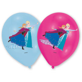 Disney Frozen Iceskating fullcolor ballonnen ø 27,5 cm. 6 st.
