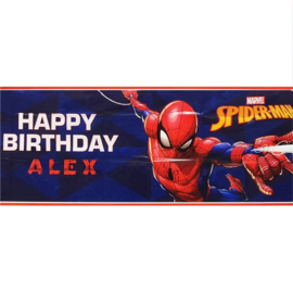 Spiderman personalised banner 120 x 45 cm.