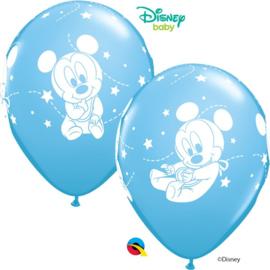 Disney Baby Mickey Mouse licht blauwe ballonnen ø 30,48 cm. 6 st.