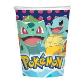 Pokémon bekertjes party 250 ml. 8 st.