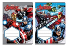 Avengers ruitjes schrift A5 p/stuk