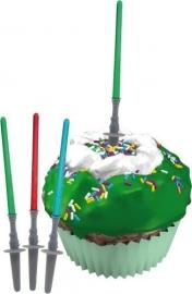 Star Wars lichtzwaard cupcake decoratie 12 st.