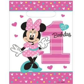 Disney Minnie Mouse 1e verjaardag traktatiezakjes 8 st.