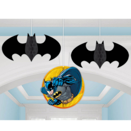 Batman honeycomb decoratie 3 st.