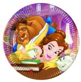 Disney Belle en het Beest gebakbordjes ø 20 cm. 8 st.