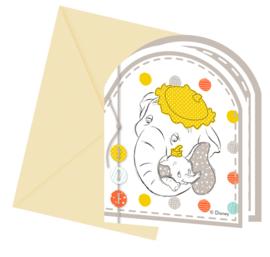 Disney Baby Shower uitnodigingen 6 st.