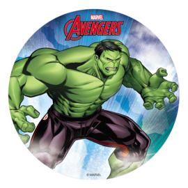 Avengers Hulk ouwel taart decoratie ø 20 cm.