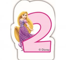 Disney Princess Rapunzel 2e verjaardagskaars 6 cm.