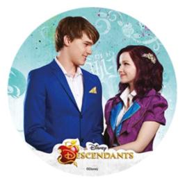 Disney Descendants Ben en Mal ouwel taart decoratie ø 21 cm. B