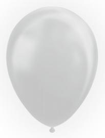 Ballon metallic silver ø 30 cm. 10 st.