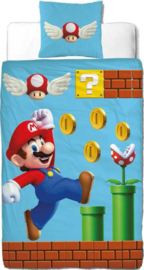 Super Mario Bros dekbedovertrek 140 x 200 cm.