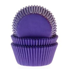 Cupcake vormpjes paars 50 st.