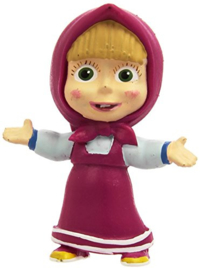 Masha and the Bear taart topper decoratie 6 cm.