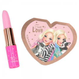 TOPModel schrijfset lippenstift meisjes 13 cm. roze 2-delig