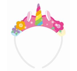 Rainbow Unicorn tiara's 4 st.