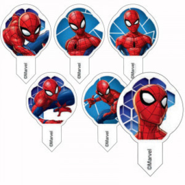 Spiderman cupcake ouwel decoratie 12 st.