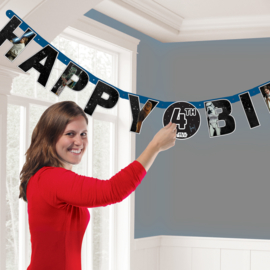 Star Wars happy birthday leeftijd letterslinger 1,4 mtr.