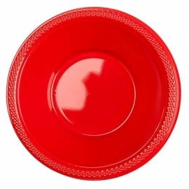 Rode wegwerp schaaltjes 355 ml. 10 st.