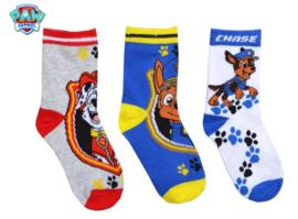 Paw Patrol sokken 3 paar mt. 31-34
