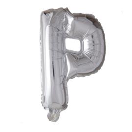 Folieballon letter P zilver 70 cm.