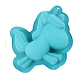 Unicorn siliconen bakvorm 15 x 15 cm.