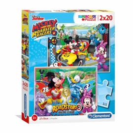 Disney Mickey and the Roadster Racers puzzel 2 x 20 stukjes