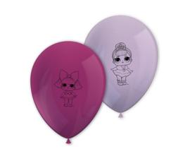 LOL Surprise ballonnen Glitterati ø 28 cm. 8 st.