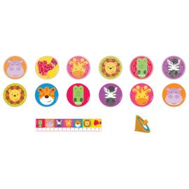 Jungle uitdeelspeelgoed Animal Friends 24-delig