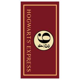 Harry Potter strandlaken Hogwarts Express 90 x 180 cm.