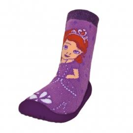 Disney Sofia the First sokken met rubberen antislip zool mt. 18-19