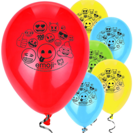 Emoji - Smiley ballonnen ø 30,4 cm. 8 st.