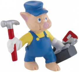 Disney The Three Little Pigs Practical taart topper decoratie 6 cm.