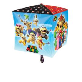 Super Mario Bros Cubez folieballon 38 x 38 cm.