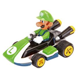 Super Mariokart Luigi taart topper 4,5 cm.