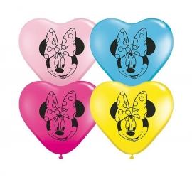 Disney Minnie Mouse hart ballonnen ø 12 cm. 10 st.