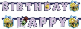Maya de Bij slinger happy birthday 1,8 mtr.