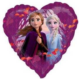 Disney Frozen 2 folieballon hart 43 cm.