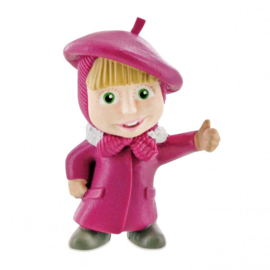 Masha and the Bear taart topper decoratie 6 cm. B