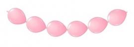 Knoopballonnen roze 3 mtr.